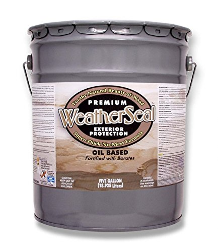 Continental Weatherseal Stain Cabin Brown 5 Gallon