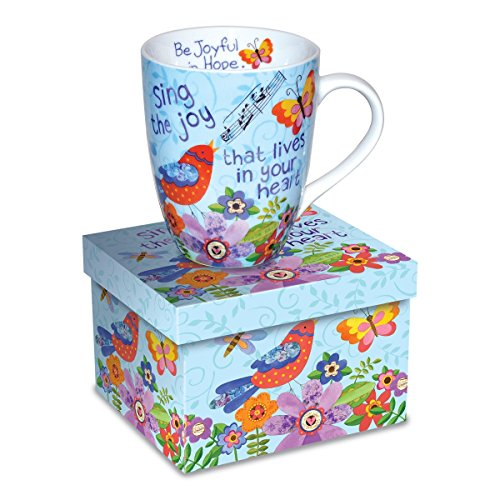 Divinity Boutique 23579 Ceramic Mug Sing Joy Bird. Psalm 66:2, Multicolor from Divinity Boutique