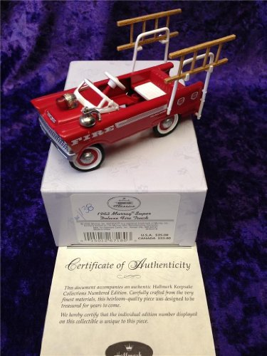 HALLMARK KIDDIE CAR CLASSICS 1962 MURRY SUPER DELUXE FIRE TRUCK QHG2218