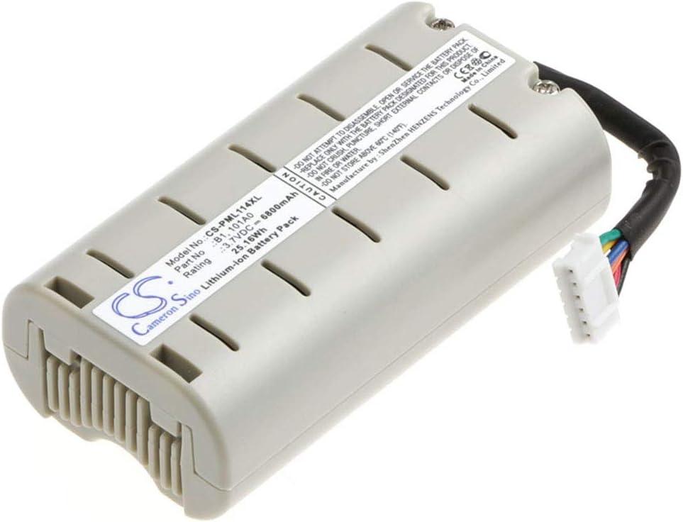Aiyawear 6800mAh//25.16Wh 3.7V DAB Digital Battery Packs Compatible with 101A0 B1 D240 Evoke D2 One Mini Color : Gray, Size : 74.95 x 40.40 x 25.55mm