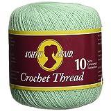 Coats Crochet & Floss South Maid Crochet, Cotton Thread Size 10, Mint Green
