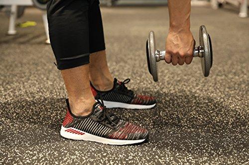 ZanYeing Unisex Bequem Gym Fitness Atmungsaktives Mesh Turnschuhe Freizeitschuhe Ultra-Light Sportschuhe Laufschuhe 36-48 Schwarz
