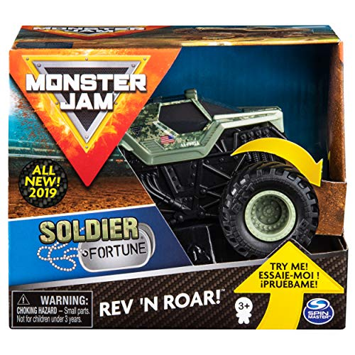 Monster Jam Official Soldier of Fortune Rev 'N Roar Monster Truck, 1:43 Scale