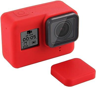 Laifeng Estuche de Silicona con Cubierta de Lente for GoPro HERO7 Negro / 7 Blanco / Plata 7/6/5 (Negro) (Color : Red) : Amazon.es: Electrónica