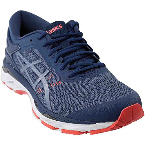 ASICS Mens Gel-Kayano 24 Running Shoe, Smoke Blue/Smoke Blue/Dark Blue, Size 11