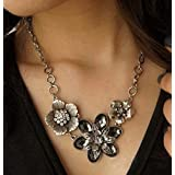 299# - 1 New Arrival Women Jewelry Pendant Choker Chunky Statement Chain Bib Necklace