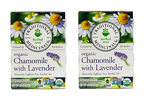 Traditional Medicinals Organic Chamomile With Lavender Herbal Tea - 16 Tea Bags (Pack Of ()