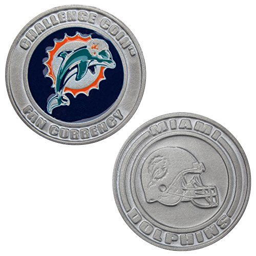 Miami Dolphins Challenge Coin Poker Card Cover - Comes with Free Cut Card! (MIAMI)