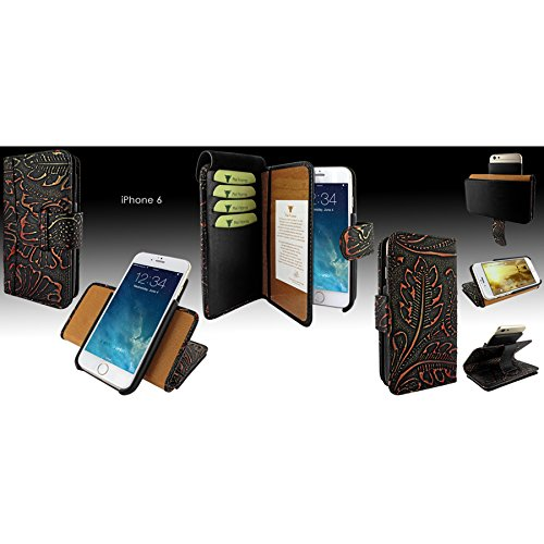 Piel Frama 678NS Etui Portefeuille pour iPhone 6