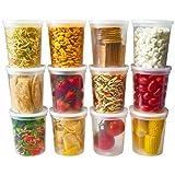 DuraHome - Contenedores de almacenamiento de alimentos Deli con tapas de 86,36 ml, paquete de 24 unidades, plástico para microondas