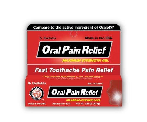 Benzocaïne douleur buccale Soulagement du Dr Sheffield - 0,33 once, 10 Tubes
