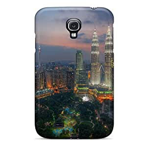 Flexible Tpu Back Case Cover For Galaxy S4 - City Park Great Skyscrapers In Kuala Lumpur Hdr