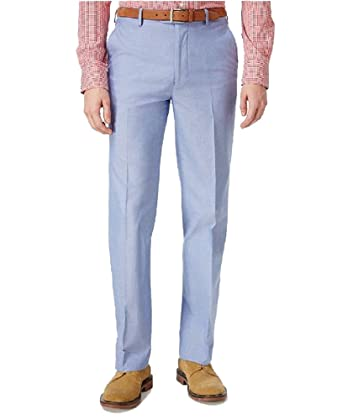 755da8820 Tommy Hilfiger Men's Slim-Fit Stretch Performance Blue Chambray Solid Suit  Pants: Amazon.co.uk: Clothing