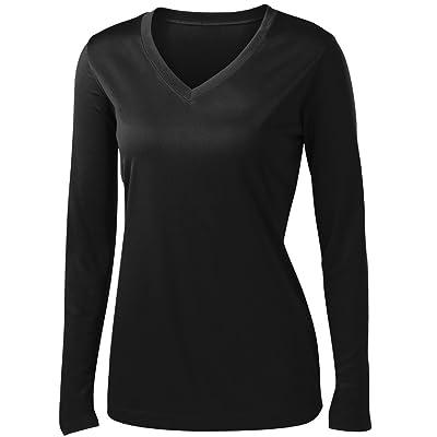 Animal Den Ladies Long Sleeve Moisture Wicking Athletic Shirts Sizes XS-4XL: Clothing