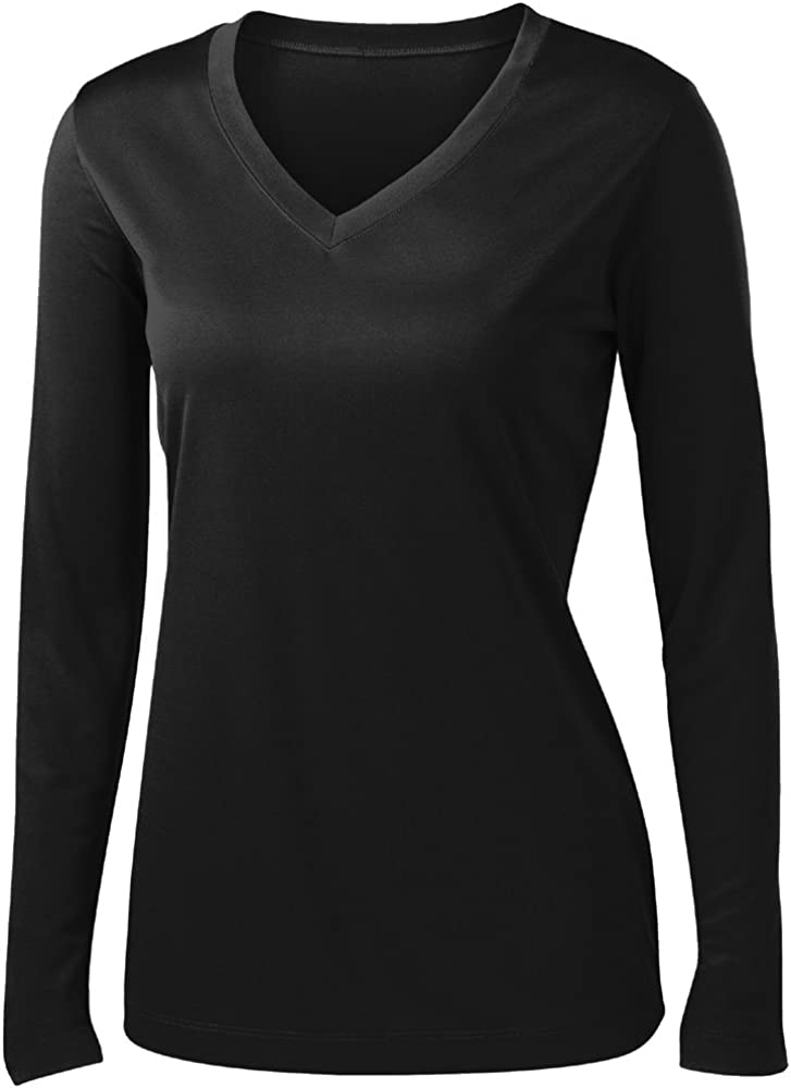 Animal Den Ladies Long Sleeve Moisture Wicking Athletic Shirts Sizes XS-4XL