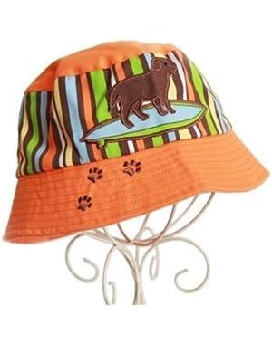 Melondipity Boys Orange Surf Dog Baby Sun Hat - High Quality Cap for Beach, Pool