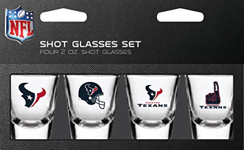 NFL Houston Texans Shot Glass Set4 Pack Shot Glass Set, Team Colors, One Size