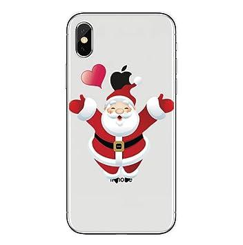 Freesiom Coque Iphone 6 6s Silicone Transparente Noël Motif