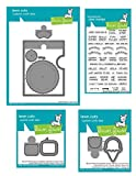 #2: Lawn Fawn Reveal Wheel Die Set, Speech Bubble Die Add on Set, Sweetest Flavor Add-on Dies and Coordinating Reveal Wheel Clear Stamp Sentiments (LF1700, LF1701, LF1702, LF1703), 4 Piece Bundle