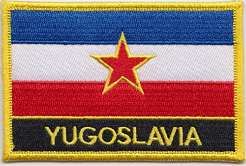 - Yugoslavia 1918 to 1992 Flag Embroidered Blazer Badge Patch