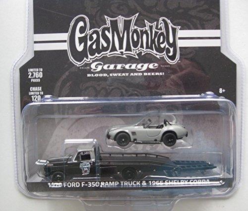 GREENLIGHT GAS MONKEY GARAGE 1970 FORD F-350 & 1965 SHELBY COBRA 1/64 SCALE DIECAST CARS SET 51138