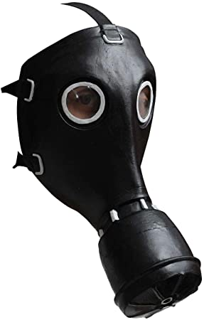 Máscara de gas negro - Única