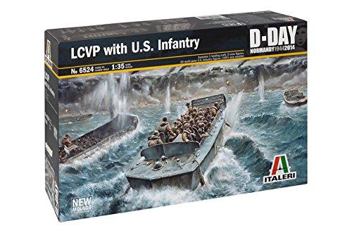 Italeri Models LCVP with U.S. Infantry D-Day Series Boat Model Building Kits
