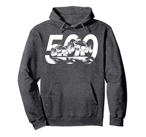 Unisex Retro 500 Hoodie - Indianapolis race - Vintage Indy Large Dark Heather