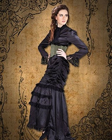 Steampunk Dresses | Women & Girl Costumes Steampunk Victorian the Wickfield 3-pc Ensemble $149.95 AT vintagedancer.com