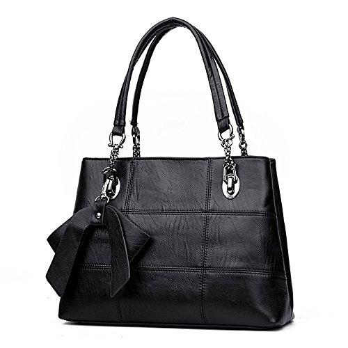 Handbag Skewing Gwqgz Shoulder Bag Bag New Shoulder Black Spanning Soft Lady's Gray Eq1qT
