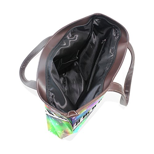 Bags Handbag Ladies Tote Women Note Shoulder Bennigiry Handle Patern Music Keys Large Piano Top qapxnYR