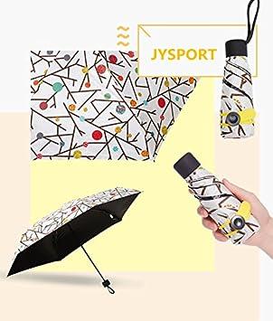 JYSPORT Plegable Paraguas Paraguas – Ligero – Durable y Resistente al Viento – Cero transmisión de luz Bloqueador Solar protección UV 50 + UPF Viaje ...