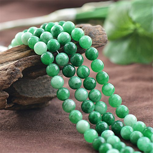 Grade A Natural Multi Tones Green Jade Beads 6mm 8mm 10mm 12mm Smooth Polished Round 15 Inch Strand JA26 Wholesale Beads -