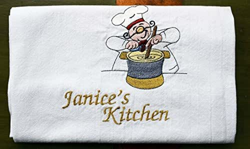 Amazon.com: Personalized Kitchen Towel, Embroidered Chef