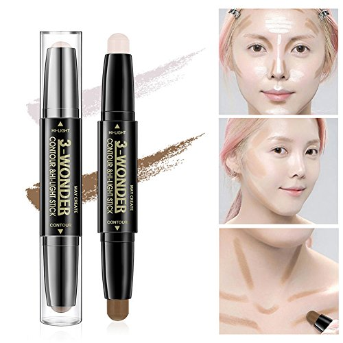 - Scala 2Pcs/set Double Head 2 Colors Comestic Contour Stick Pen Highlight Brightening Concealer Pen Pencil Nose Eye Shadow 3D Face Bronzer Pen Perfect Concealing Blemish (2packs)