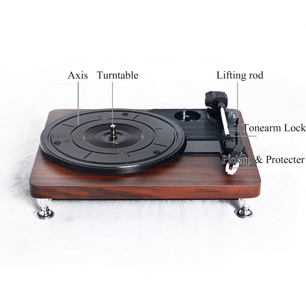 JAYLONG Reproductor de Discos Retro, Unidad giratoria de 3 ...