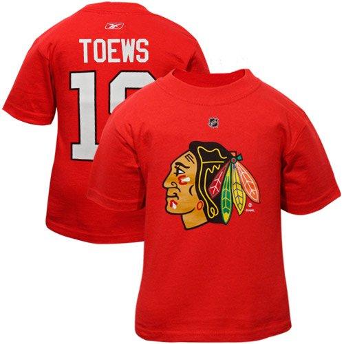2f2d5ede444 Chicago Blackhawks #19 Toews T-shirt NHL Hockey Toddler Kids Shirt Tee (2T