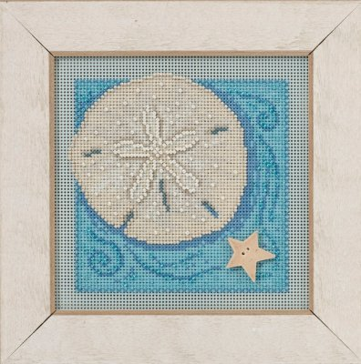 Button Bead Kit (Sand Dollar Beaded Counted Cross Stitch Kit Mill Hill 2016 Buttons & Beads Spring MH141612)
