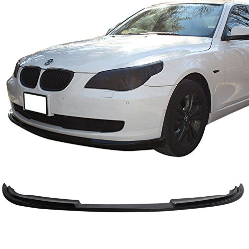 Front Bumper Lip Fits 2008-2010 BMW E60 5-SERIES LCI   H Style PU Black Front Lip Spoiler Splitter Air Dam Chin Diffuser Add On by IKON MOTORSPORTS   2009