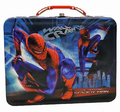 The Amazing Spiderman Wall Crawler Embossed Metal Lunch Box/ Carry-All (Spider Man Lunch Tin Box)