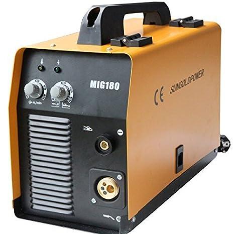 Potencia SUNGOLD MIG180 MIG como dispositivo de soldadura con doble ...