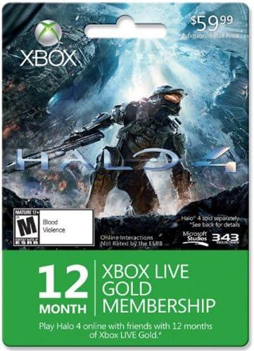 Amazon.com: Xbox Live 12 Month Gold for Halo 4 - Xbox 360 ...