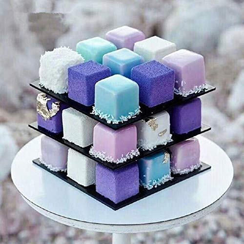 - Nesee Cube Cake Mold,DIY Cookie Cutters Baking Supplies Cake Decorating Kit, Rotate Magic Cube Aluminum Alloy Molds, 3D Chocolate Fondant Pastry Dessert Mold (Ship from US)