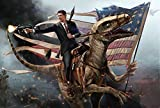 Ronald Reagan Riding a Raptor *various sizes available