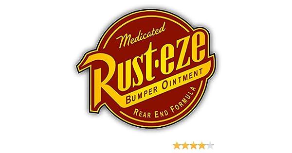 amazon com rust eze auto logo car bumper sticker decal 14 x 12 rh amazon com rust eze logo sticker rust eze logo font