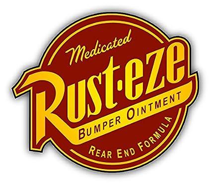 Rust Eze Auto Logo Car Bumper Sticker Decal 14 X 12