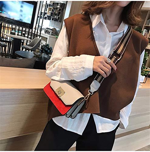 Piccola Borsa Spalla Crossbody Con Organo Rosso Donna Colore Borsa Singolo Bag scrub Quadrata Moda wide CqW4wP