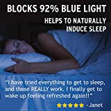 Blue Light Blocking Computer Glasses - FIT Over Clip ONS to Sleep Better Wear Filter Lens at Night for Insomnia - Anti Glare for Migraine, Headache, Eye Strain Relief - Men, Women, Gamer - Gaming Set