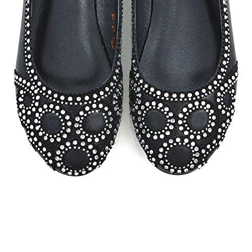 Bridal Flat Shoes New Pumps Ladies 9 Diamante Womens GLAM ESSEX Courts 3 On Party Black Size Slip CxqtwgSt