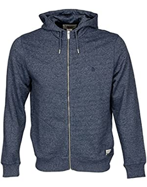 Mens Jumpers Original Penguin Hoodie / Hooded Sweatshirt Cotton Jumper Dark Sapphire